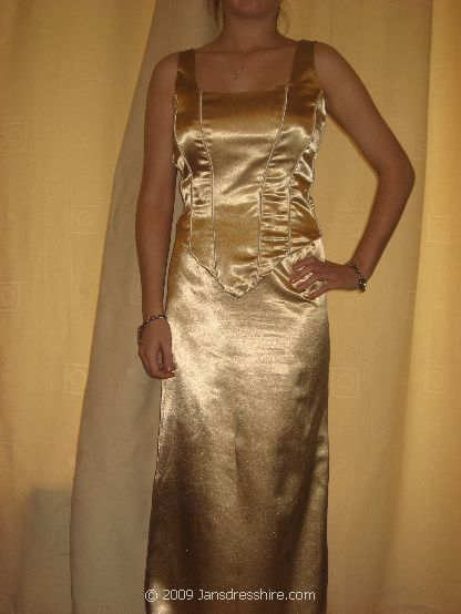 Gold Dress - Size 16 - 2P