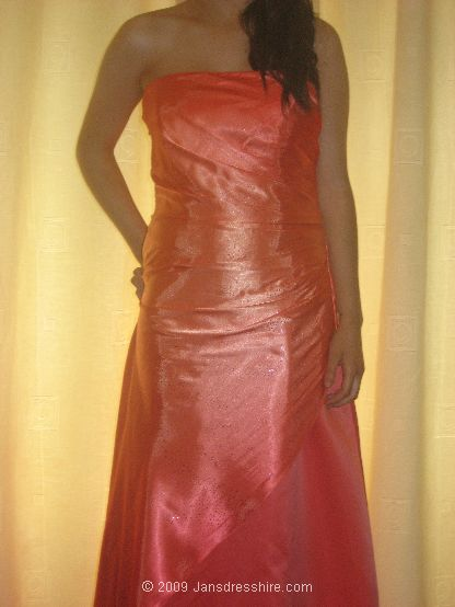 Orange Dress - Size 10-12 - 2N